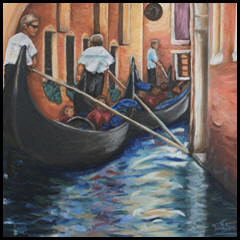 Oil pointing of Venice