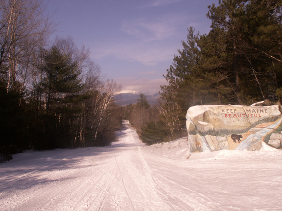 Entrance rock to Baxter State Park